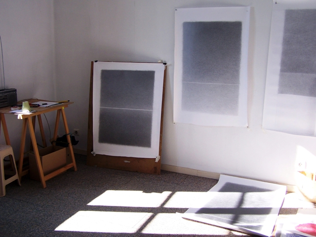 My studio in DRAWinternational Caylus, France