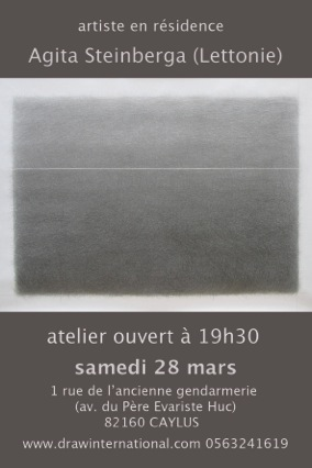 Open studio  28.03.2015. A.I.R DRAWinternatonal, Caylus, France